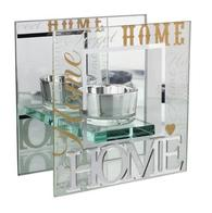 Home 3D Word Glass T-Lite Holder 61116 - Juliana Collection