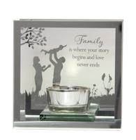 Reflections Of The Heart Mirror Tea Light Holder FAMILY 61656 - Said With Sentiments