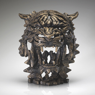 EDGE Sculpture - Tiger Bust (Golden) EDB02G