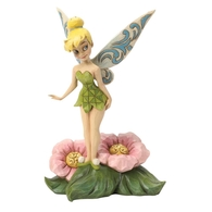 Tinkerbell On Flower 4037505 - Flower Fairy Disney Traditions