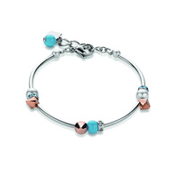 Coeur De Lion Turquoise and Rose Gold Bracelet (4802/30)
