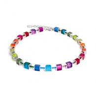 Coeur De Lion Geo Cube Rainbow Necklace (K2376)