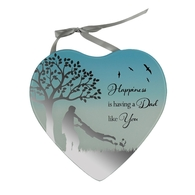 Reflections Of The Heart Mirror Plaque DAD - Said With Sentiments