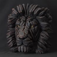 EDGE Sculpture - Lion Bust, Black Limited Edition of 250 EDB09K