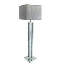 FLOATING CRYSTAL MIRRORED STANDARD LAMP (SHADES NOT INCLUDED) £250  - COLLECT IN STORE ONLY