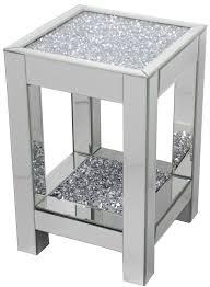 DIAMOND CRUSH SPARKLE CRYSTAL MIRRORED LAMP/ SIDE TABLE MEDIUM £210