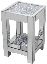 DIAMOND CRUSH SPARKLE CRYSTAL MIRRORED LAMP/ SIDE TABLE LARGE £225