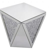 DIAMOND CRUSH SPARKLE CRYSTAL MIRRORED LAMP/ SIDE TABLE £300