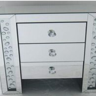 3 DRAWER FLOATING MIRRORED CRYSTAL DRAWERS £275
