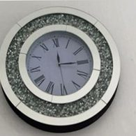DIAMOND CRUSH SPARKLE CRYSTAL MIRRORED ROUND CLOCK £120