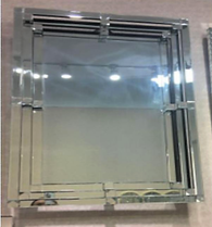 3 STEP RECTANGULAR MIRROR £300 -COLLECT IN STORE ONLY
