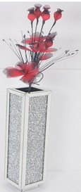 DIAMOND CRUSH SPARKLE CRYSTAL MOCHA VASE  £225 - ( FLOWERS NOT INCLUDED ) COLLECT IN STORE ONLY