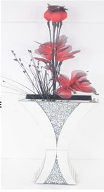 DIAMOND CRUSH SPARKLE CRYSTAL MOCHA VASE  £180 - ( FLOWERS NOT INCLUDED ) COLLECT IN STORE ONLY