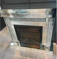DIAMOND CRUSH SPARKLE CRYSTAL FIREPLACE  £1275.00