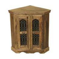 CORNER CABINET INDIAN SHEESHAM WOOD FURNITURE- COLLECT IN STORE