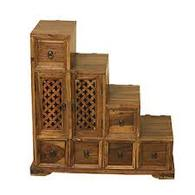 STEP CHEST INDIAN SHEESHAM WOOD FURNITURE- COLLECT IN STORE