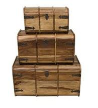 MEDIUM TRUNK/  CHEST INDIAN SHEESHAM WOOD FURNITURE- COLLECT IN STORE