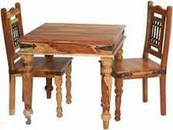 DINNING TABLE INDIAN SHEESHAM WOOD FURNITURE- COLLECT IN STORE