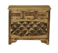 WINE RACK WITH 3 DRAWERS INDIAN SHEESHAM WOOD FURNITURE- COLLECT IN STORE