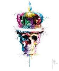 SKULL WITH CROWN MURCIANO FRAMED PICTURE - COLLECT IN STORE ONLY