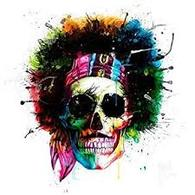 SKULL (JIMMY HENDRIX) MURCIANO FRAMED PICTURE - COLLECT IN STORE ONLY