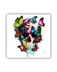 SKULL WITH BUTTERFLIES MURCIANO FRAMED PICTURE - COLLECT IN STORE ONLY