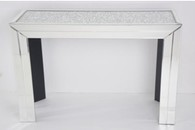 DIAMOND CRUSH SPARKLE CRYSTAL MIRRORED CONSOLE TABLE £450