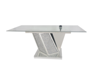 MOCKA DIAMOND CRUSHED CRYSTAL DINING TABLE £1000