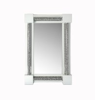 ARIANA DIAMOND CRUSHED CRYSTAL WHITE MIRROR £345