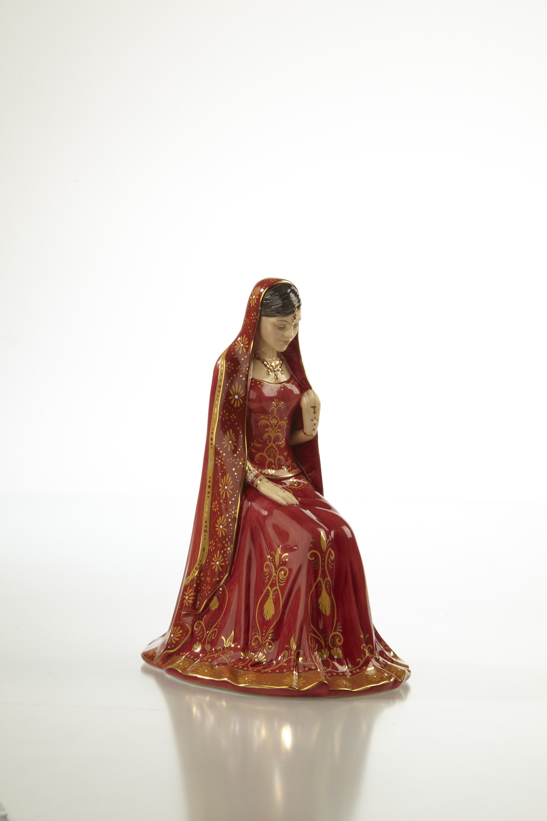 The English Ladies Co Eternal Love In Indian Wedding Dress Figurine NEW IN BOX