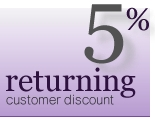 5% Returning Customer Discount